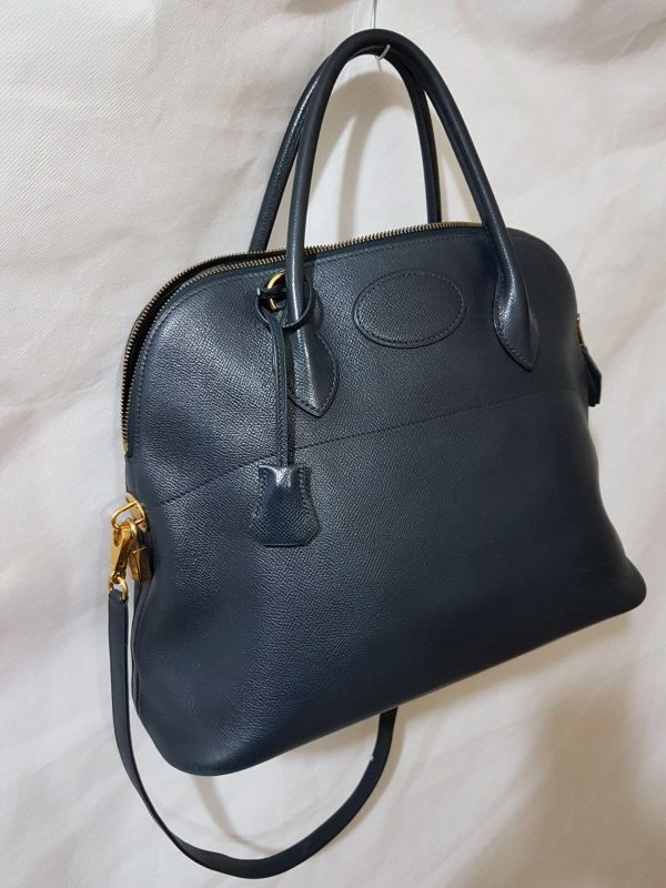 sac bolide hermes cuir courchevel navy