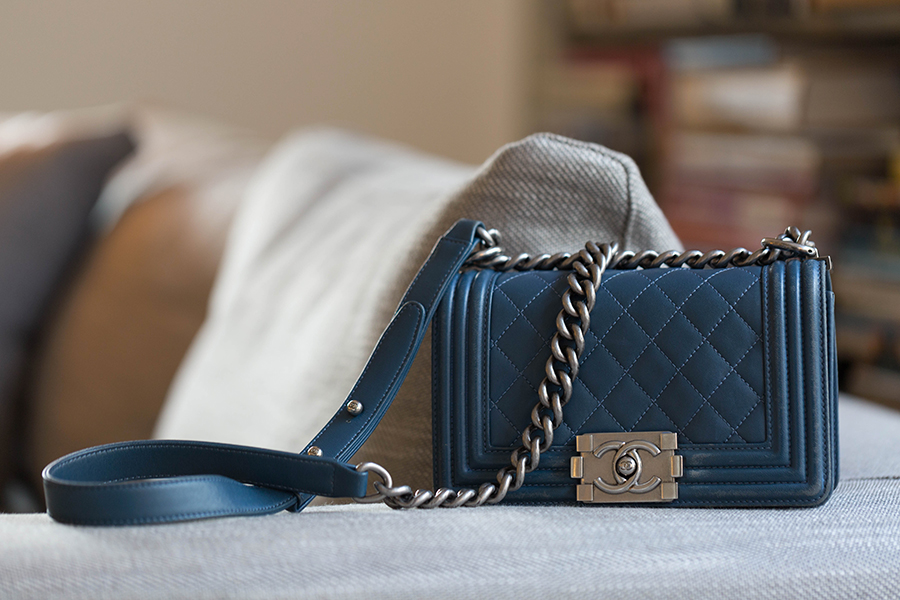 Chanel Bleu Gris location de sac paris 16eme