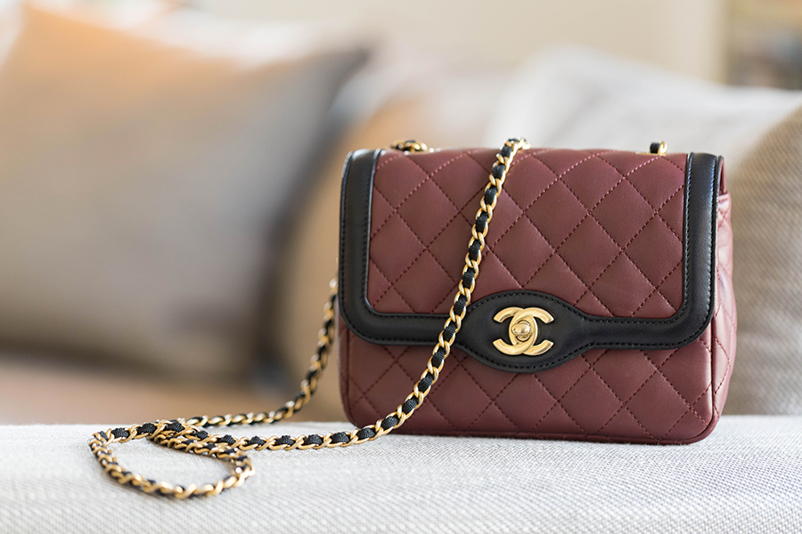 sac Chanel bordeaux