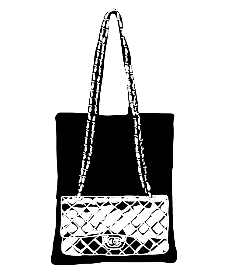 illustration Chanel handbag marine de quénetain